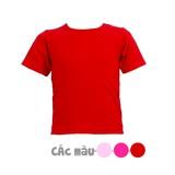 5 áo phông trơn cổ tròn size 1-2-3