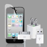 Bộ cáp, sạc, tai nghe, dán màn hình iPhone3GS/4/4S