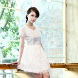 Váy ren lụa trắng điệu đà