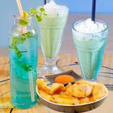 Set đồ uống và ăn vặt tại B&B cafe