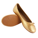 Giày nơ màu nhũ vàng, nhũ bạc xinh xắn