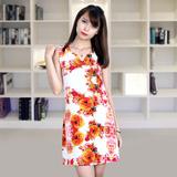 Váy suông họa tiết hoa 3D