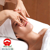 Tẩy da chết, Massage mặt lăn đá cẩm thạch thư giãn