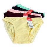 5 quần lót màu trơn cotton thoáng mát
