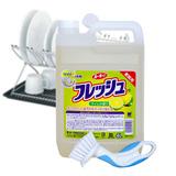 Nước rửa chén Wai can 4 lít (Nhật bản) + cọ chà chảo