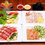 Set nướng hấp dẫn tại nhà hàng Royal Food Court