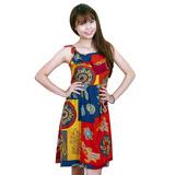 Váy đũi 2 dây họa tiết xinh xắn