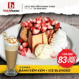 Combo Bánh kèm kem và đồ uống Ice – Blended
