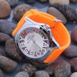 Đồng hồ dây cao su màu dạ quang