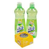 2 chai Nước rửa chén Wai 600ml (Nhật Bản) + Dụng cụ nghiền tỏi, ớt