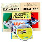 Tự học tiếng Nhật với combo 3 cuốn sách