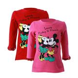 2 áo dài tay hình Mickey và Minnie dễ thương
