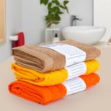 03 khăn mặt cotton tự nhiên cỡ 76x 38cm