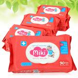 6 túi khăn ướt Miki - 90 tờ/gói