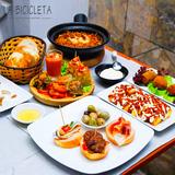 Set ăn kiểu Tây Ban Nha tại nhà hàng La Bicicleta