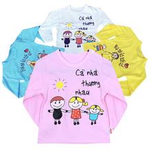 3 áo phông dài tay cho bé trai hoặc gái