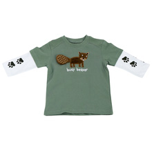 Combo 2 áo100% cotton thêu hình sóc xinh xắn 1-5 tuổi