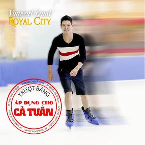 Trượt băng hấp dẫn tại Vinpearl Land Royal City
