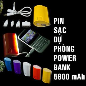 Pin sạc  tích điện 5600mAh