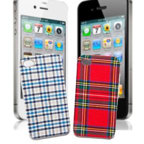 Ốp lưng nhựa bọc vải cho iPhone 4/4S