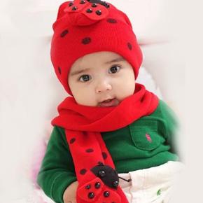 Bộ khăn mũ bọ rùa cực đáng yêu cho bé