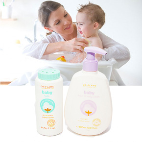 Combo: 01 chai phấn + 01 sữa tắm cho bé