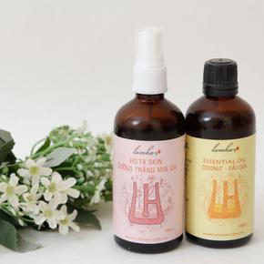 Tinh dầu dừa và Xịt dưỡng trắng mịn da