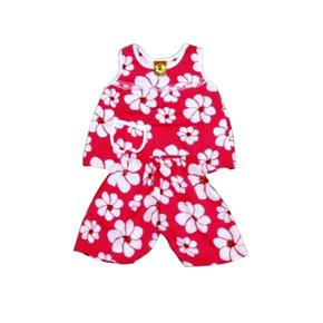 Bộ quần áo lanh cho bé gái