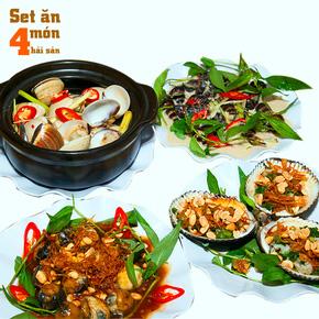Set ăn 04 món hải sản cho 2 - 3 người
