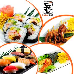 Buffet trưa Sushi hoặc Yakiniku