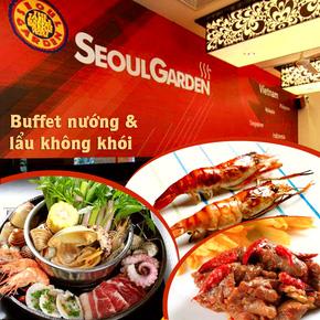 Buffet nướng và lẩu không khói Seoul Garden