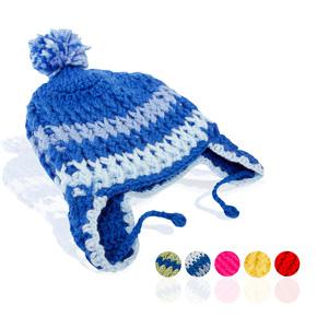 Mũ len móc có tai ấm áp ngày lạnh