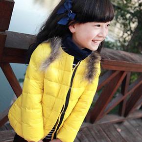 Áo phao cổ lông nhiều màu sắc cho bé gái