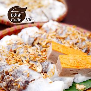 Thưởng thức bánh cuốn Việt thơm ngon tinh khiết