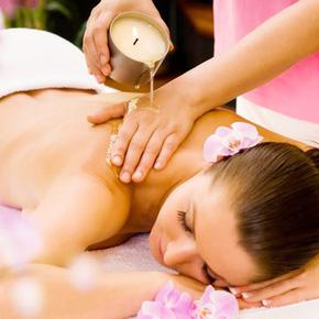 Massage body bằng nến + Đắp mặt nạ mặt