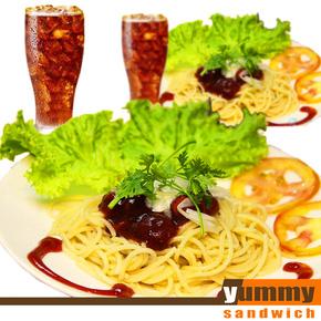 Combo 2 mỳ Ý + 2 ly nước tại Yummy Sanwich