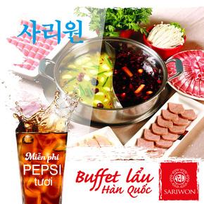 Buffet Lẩu Hàn Quốc SARIWON đặc sắc