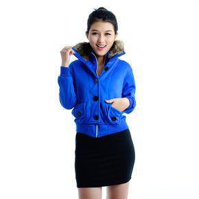 Áo khoác cổ lông phong cách Tây Âu cho nữ