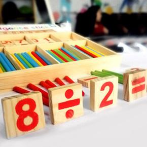 Bộ số và que tính bằng gỗ