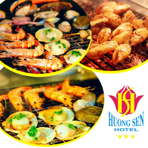 Phiếu ăn Buffet nướng - Khách sạn 3* Hương Sen