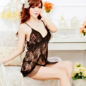 Đầm Ngủ Ren Hoa Hồng