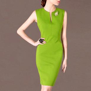 Đầm Công Sở Green Sang Trọng