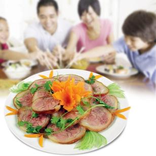 Thịt chân giò lợn muối hấp dẫn (800gr)