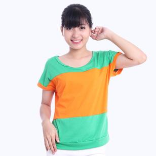 Áo phối 3 màu phong cách Hàn Quốc