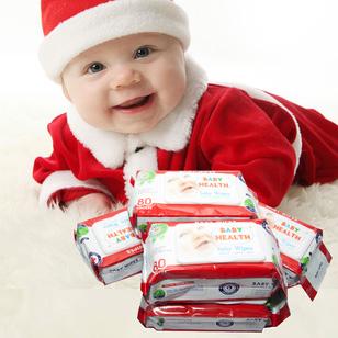 Combo 5 khăn ướt Baby Health (80 miếng/ gói)
