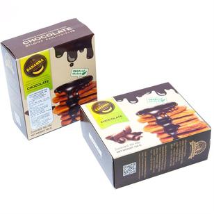 02 hộp chuối khô Organic phủ Chocolate Thái Lan