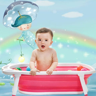 Chậu tắm gấp gọn tiện dụng cho bé yêu