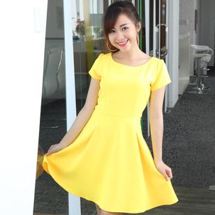 Đầm xòe Yellow thời trang tại Hồ Chí Minh