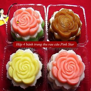 Hộp 4 bánh trung thu rau câu Pink Star