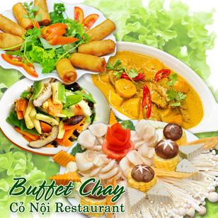 Buffet chay buổi trưa Nhà hàng Cỏ Nội